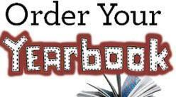 "Graphic with a photo of a yearbook and the words, ""Order Your Yearbook!"""